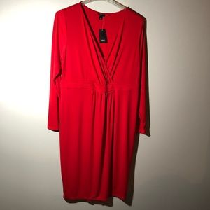 NWT Torrid Red Faux Wrap On Top Dress SZ 1X